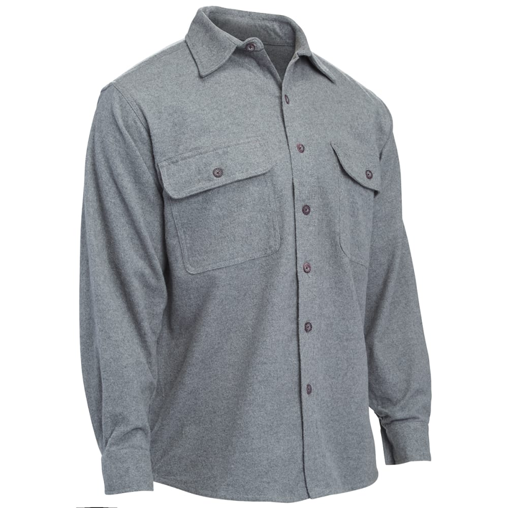 MOOSE CREEK Long Sleeve Chamois Woven Shirt - GREY