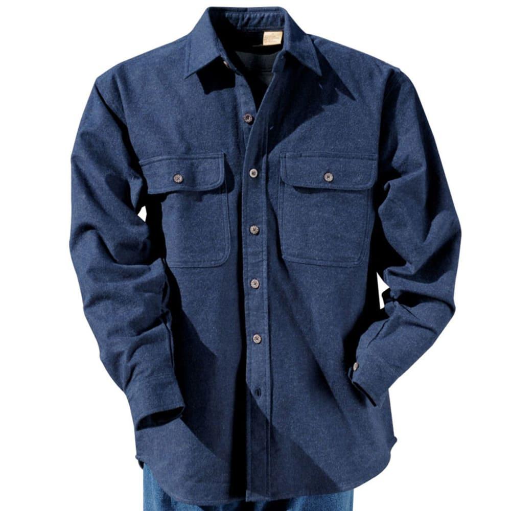 MOOSE CREEK Long Sleeve Chamois Woven Shirt - STEEL BLUE