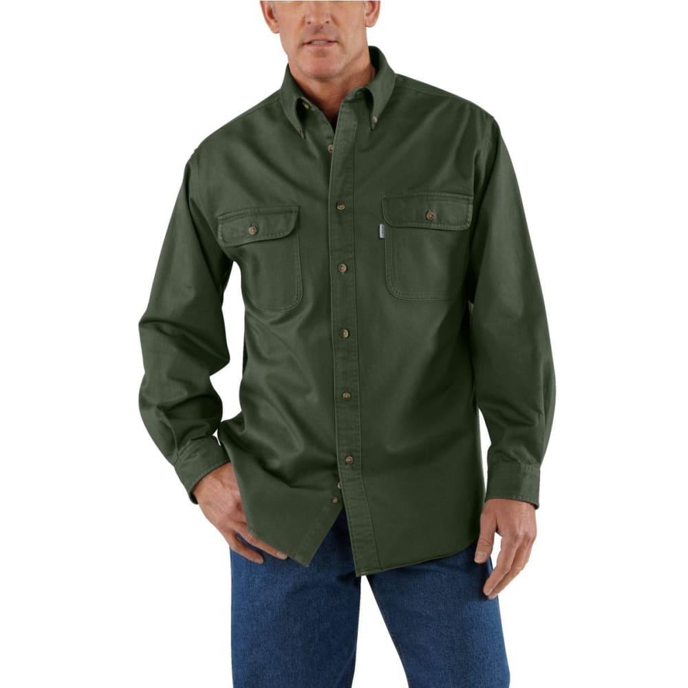 CARHARTT Men's Sandstone Twill Shirt - MOS MOSS