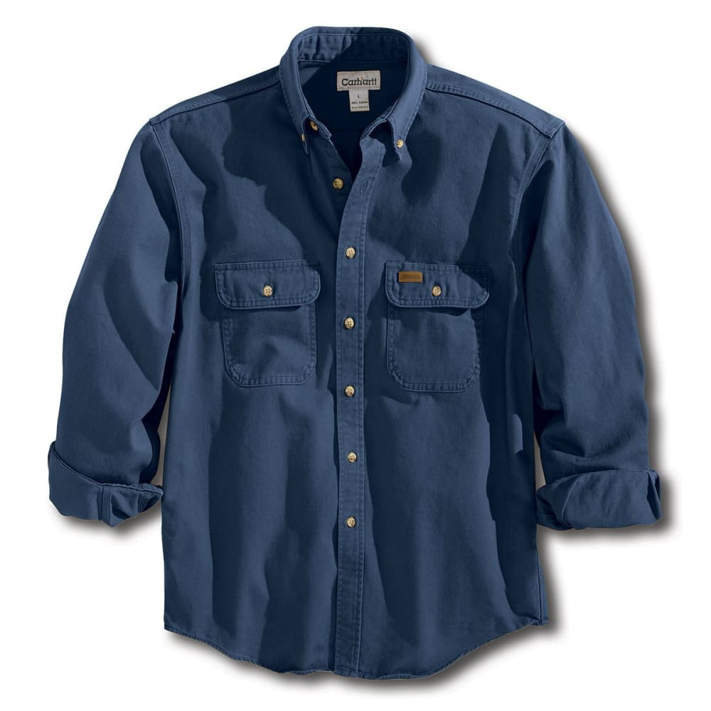 CARHARTT Men's Sandstone Twill Shirt - MDT MIDNIGHT