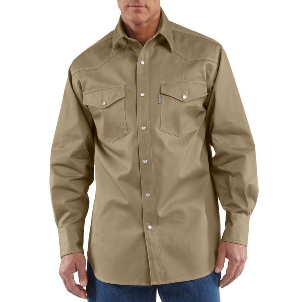 CARHARTT Men's Ironwood Work Shirt, Extended Sizes - KHAKI/KHAKI