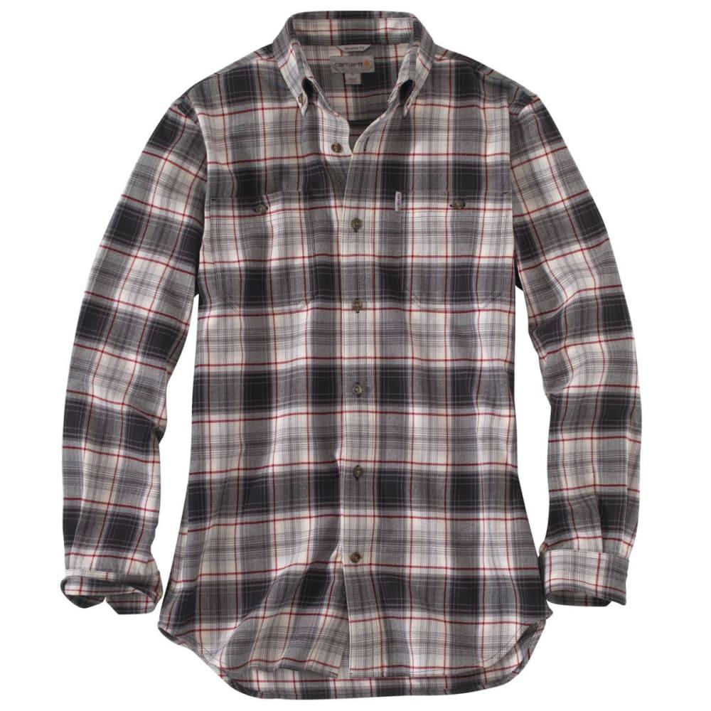 CARHARTT Men's Trumbull Midweight Flannel Shirt - CHARCOAL