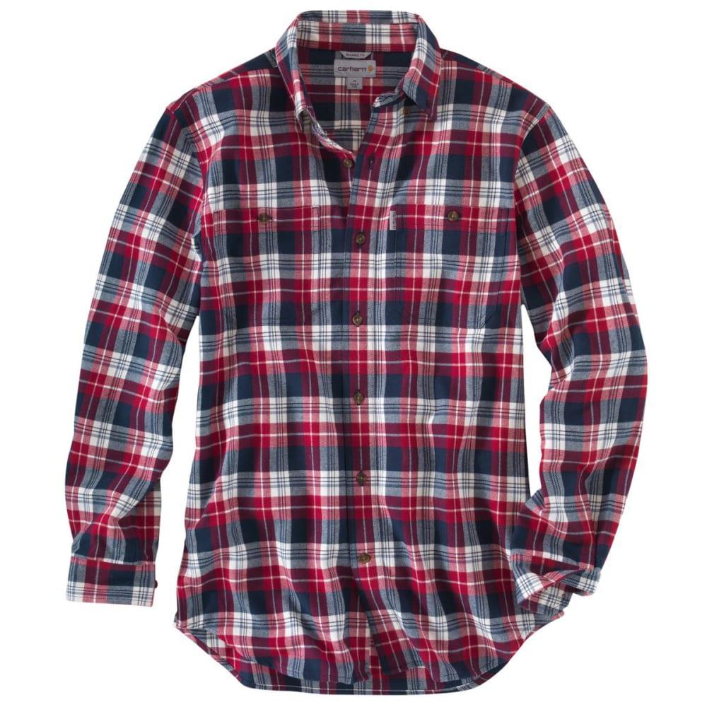 CARHARTT Men's Trumbull Midweight Flannel Shirt - DARK CRIMSON