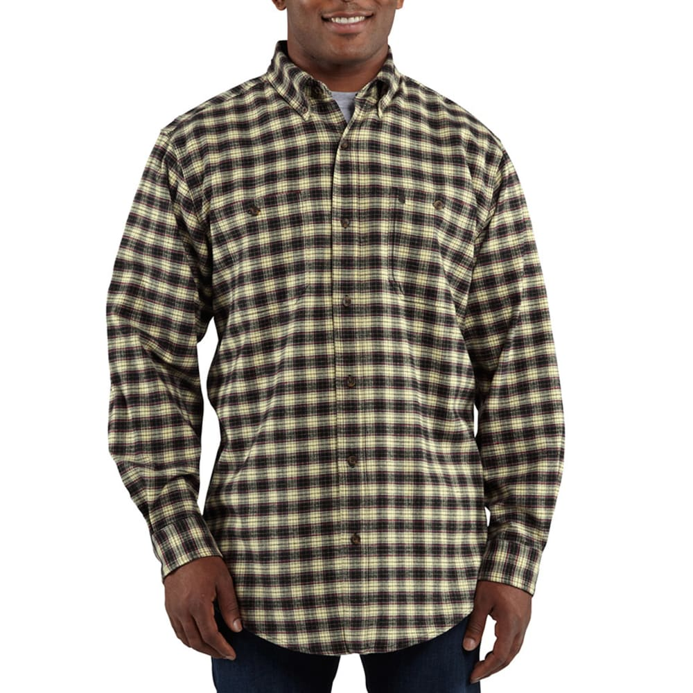 CARHARTT Men's Trumbull Plaid Shirt - BLACK
