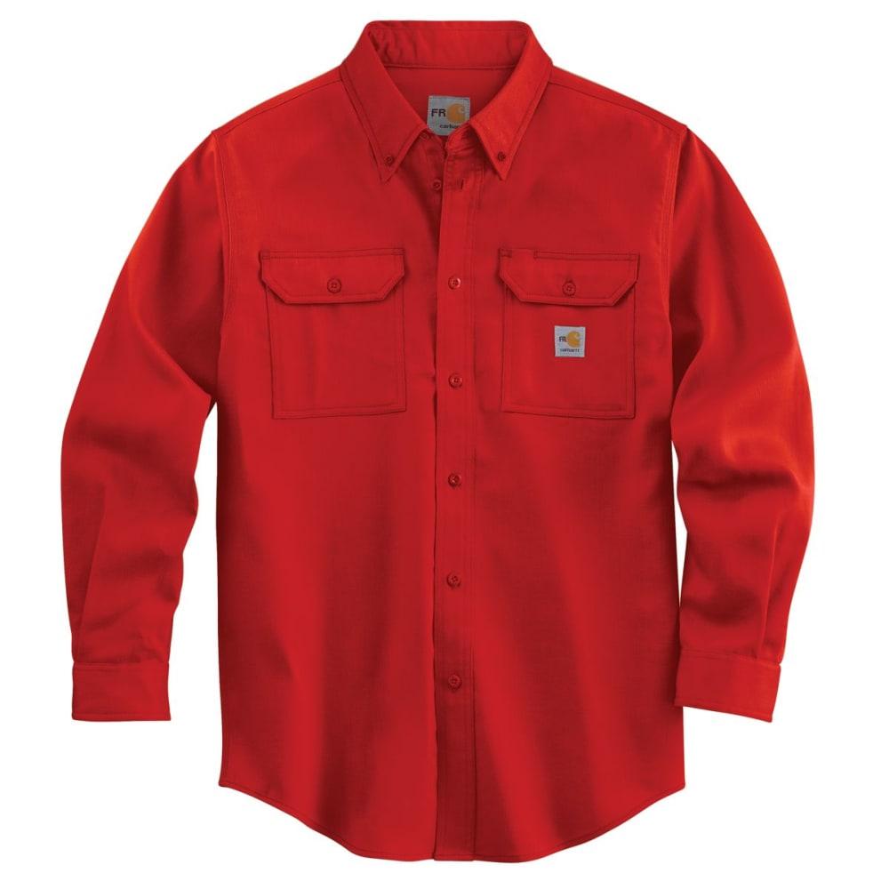 CARHARTT Men's Flame-Resistant Work-Dry Lightweight Twill Shirt - H RED