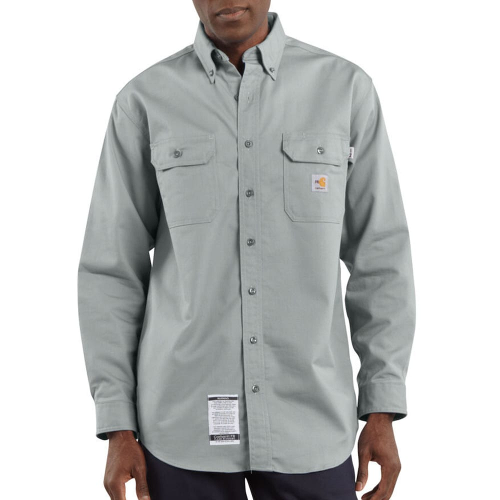 CARHARTT Men's Flame-Resistant Twill Shirt, Extended Sizes XL TALL