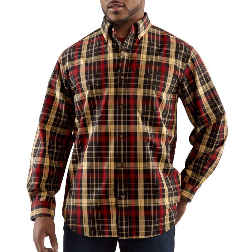 CARHARTT Men's Bellevue Plaid Shirt - BLACK