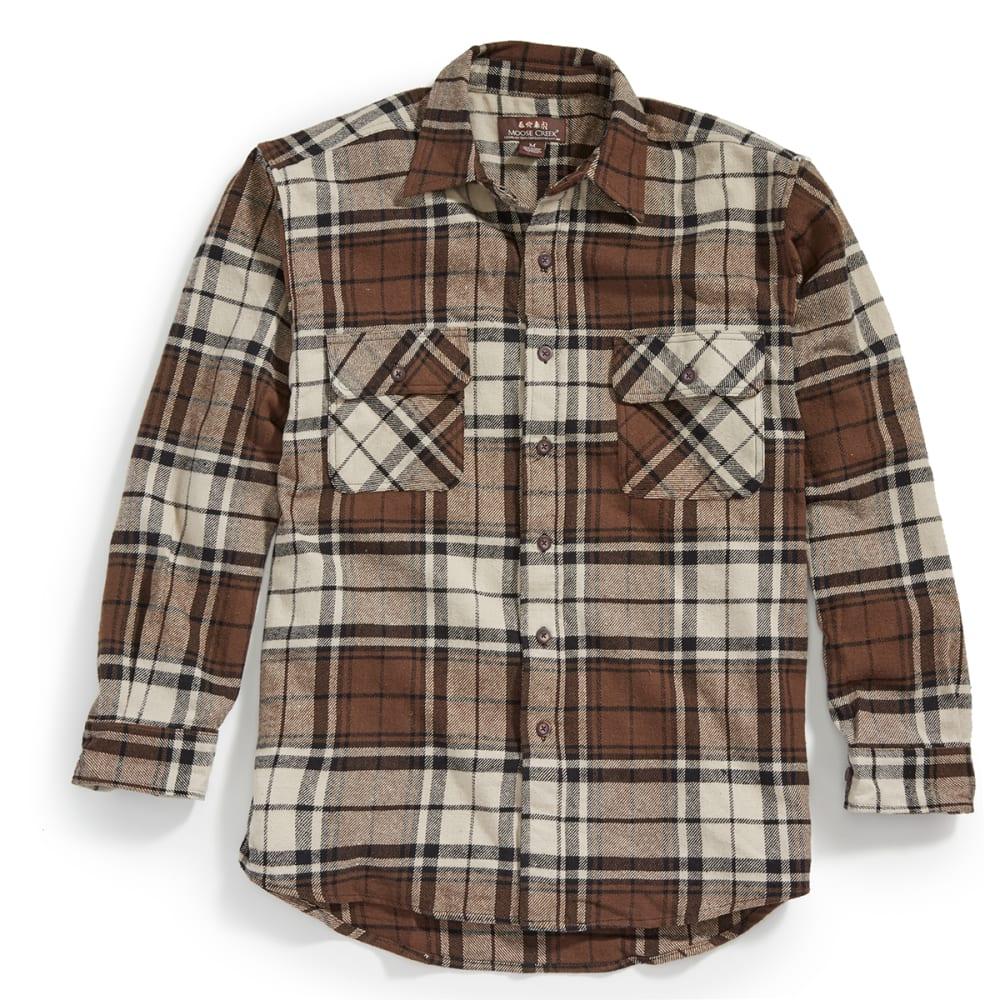 MOOSE CREEK Men's Long Sleeve Brawny Flannel Shirt - WHEAT