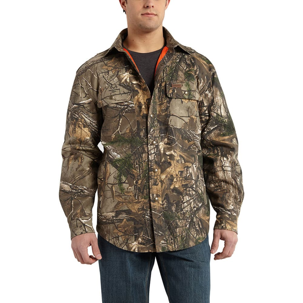 Carhartt Men's Wexford Camo Shirt Jac - Brown, L