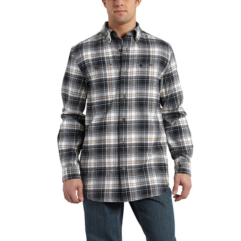 CARHARTT Men's Trumbull Plaid Shirt - CARBON HEATHER