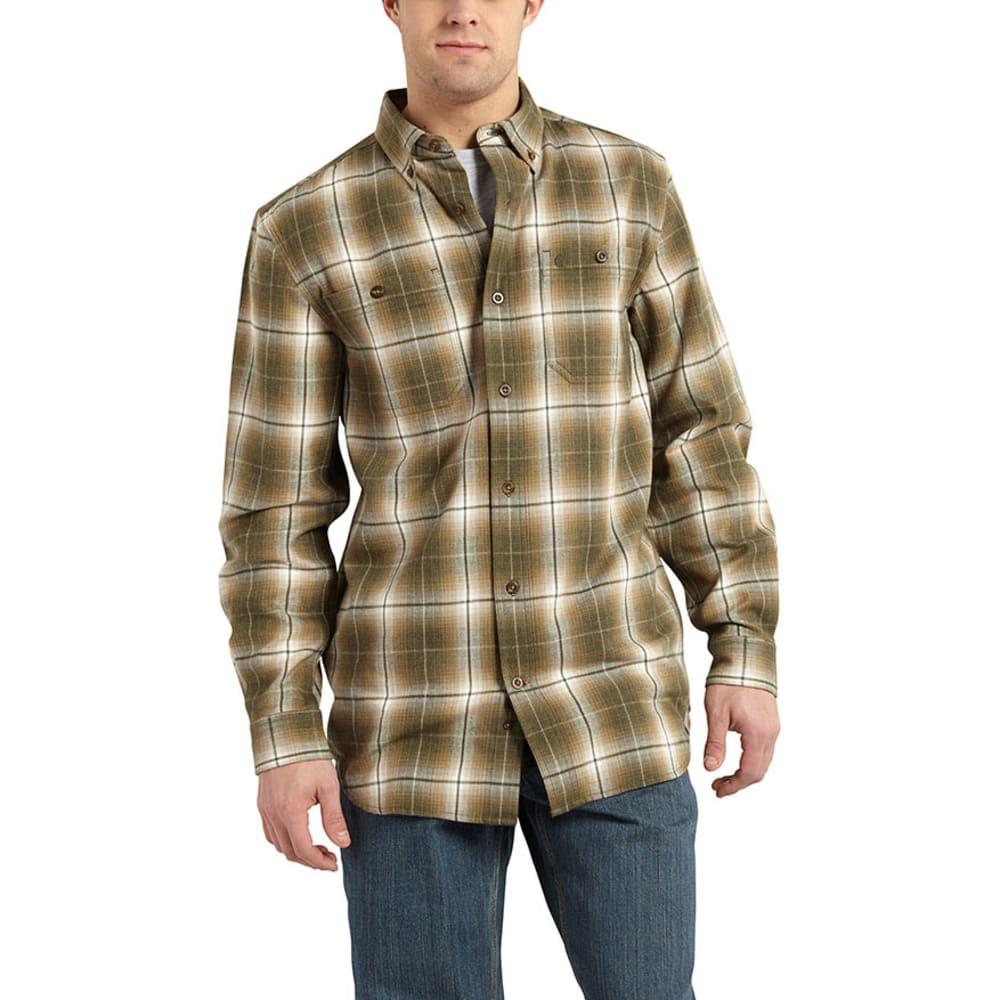 CARHARTT Men's Trumbull Plaid Shirt - MOSS HEATHER