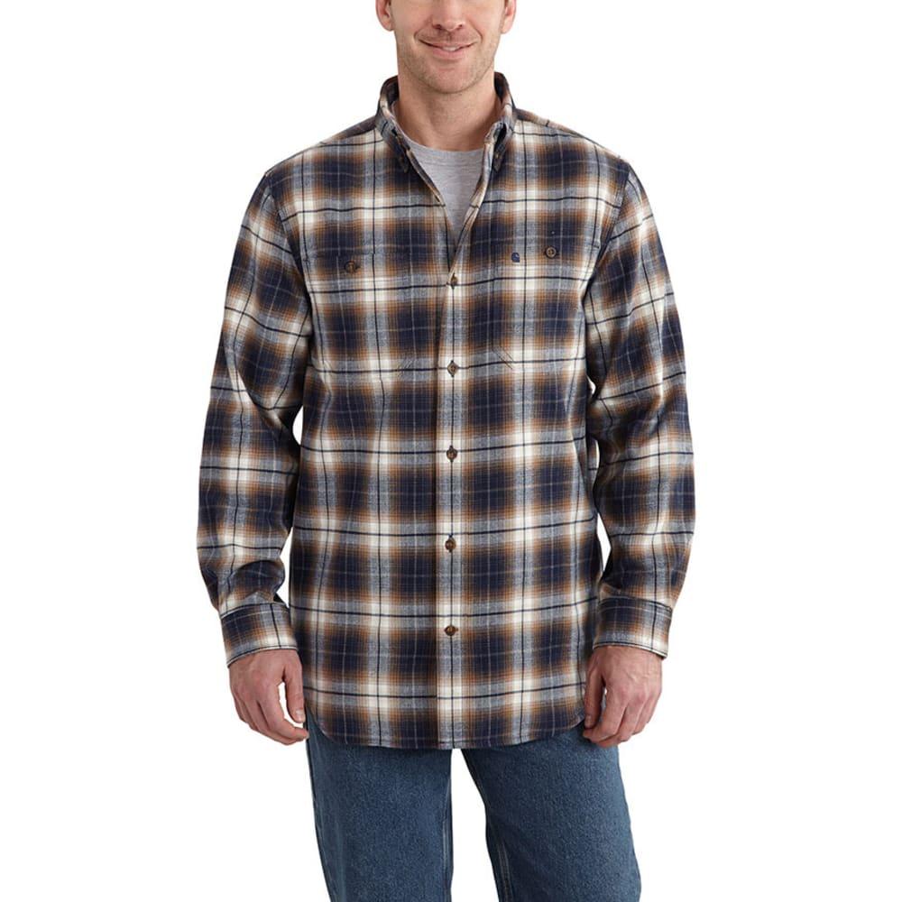 CARHARTT Men's Trumbull Plaid Shirt - NAVY