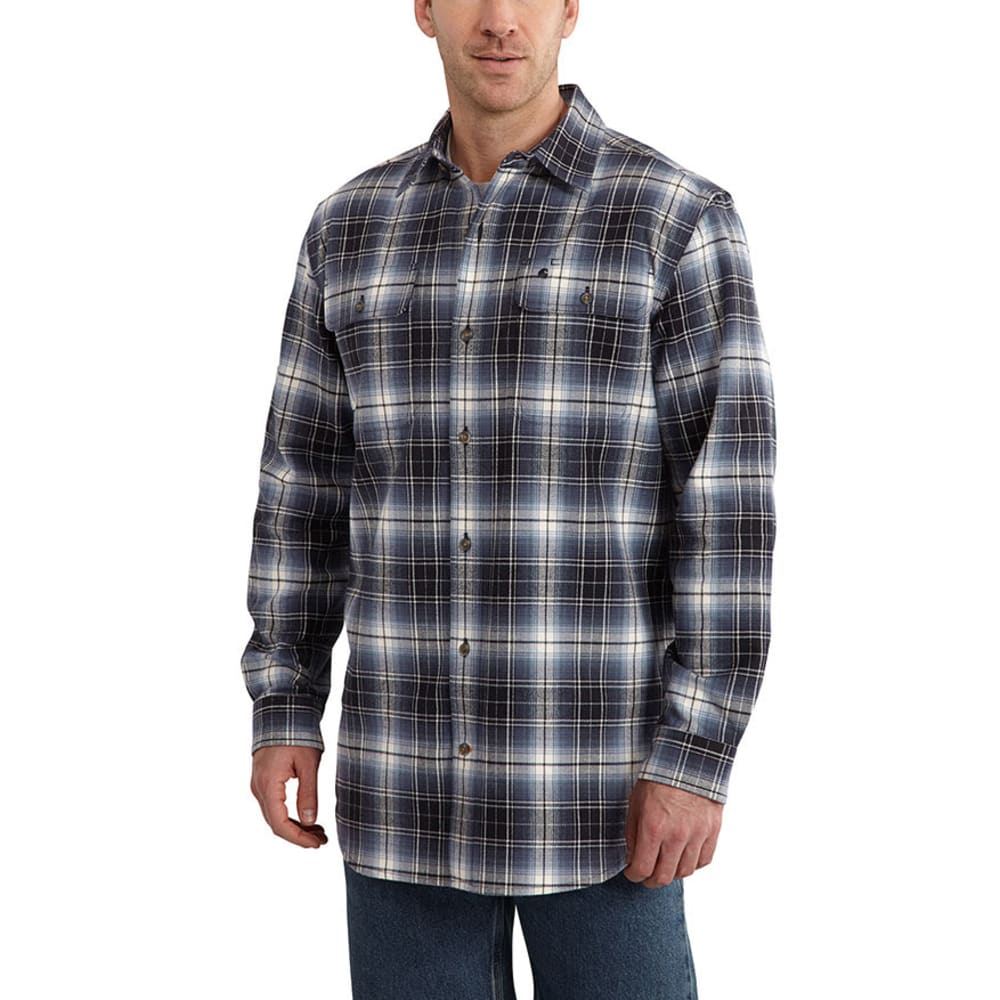 CARHARTT Men's Hubbard Plaid Shirt - DEEP BLUE