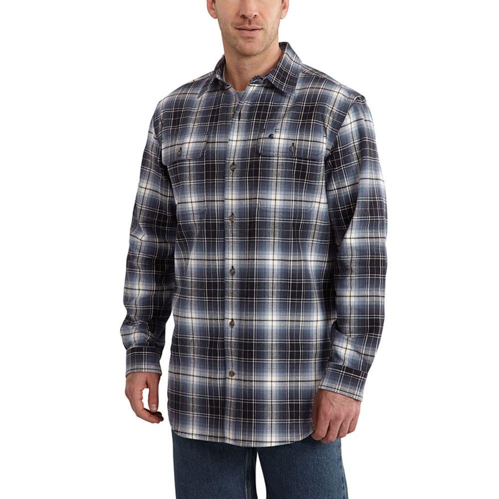 CARHARTT Men's Hubbard Plaid Shirt - DEEP BLUE