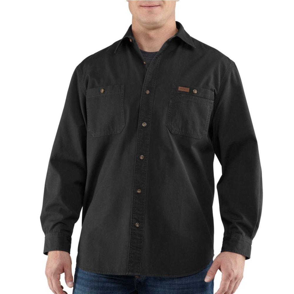 CARHARTT Men's Trade Long Sleeve Canvas Shirt - BLACK