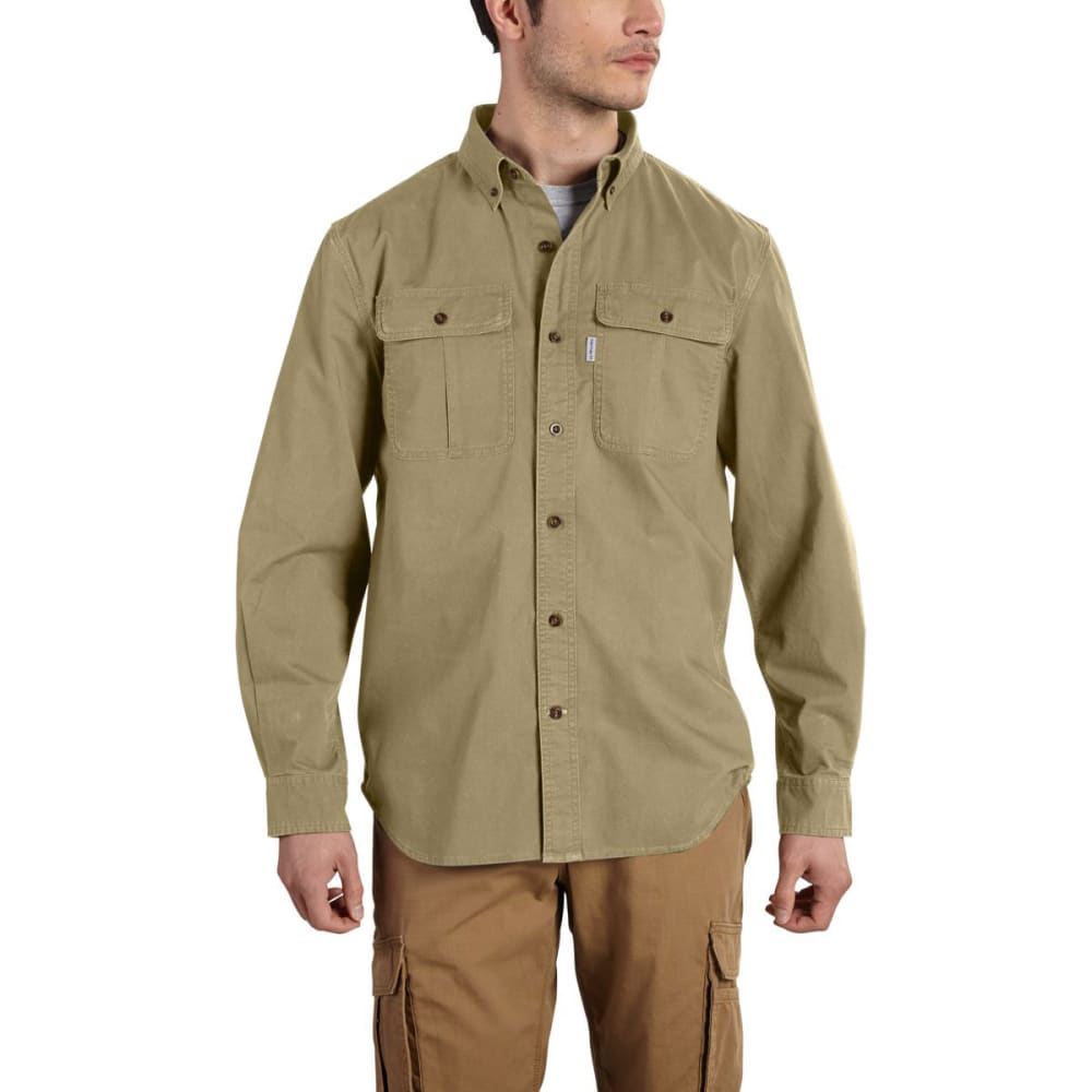 CARHARTT Men's Foreman Long-Sleeve Work Shirt - DARK KHAKI