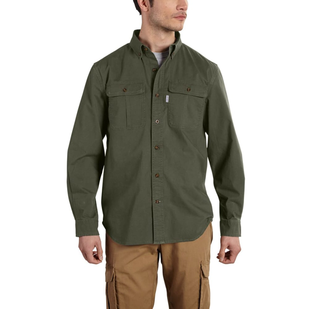 CARHARTT Men's Foreman Long-Sleeve Work Shirt - MOSS