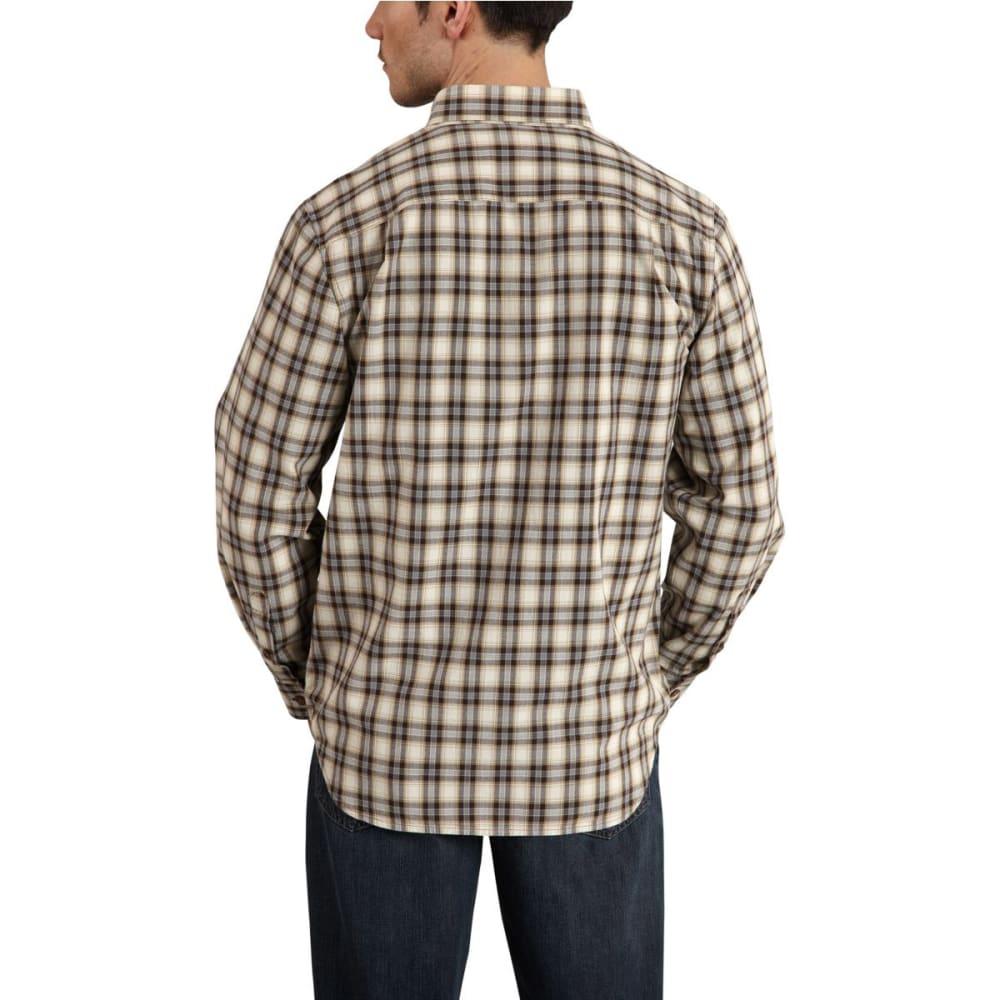 CARHARTT Men's Fort Plaid Long-Sleeve Shirt - DARK BROWN