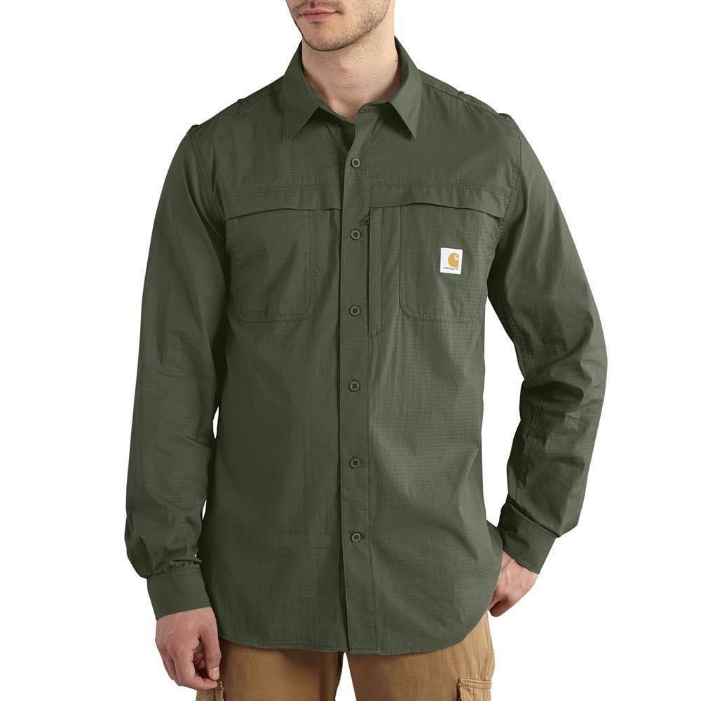 CARHARTT Men's Full Swing Force Mandan Long-Sleeve Shirt - DRAGONFLY