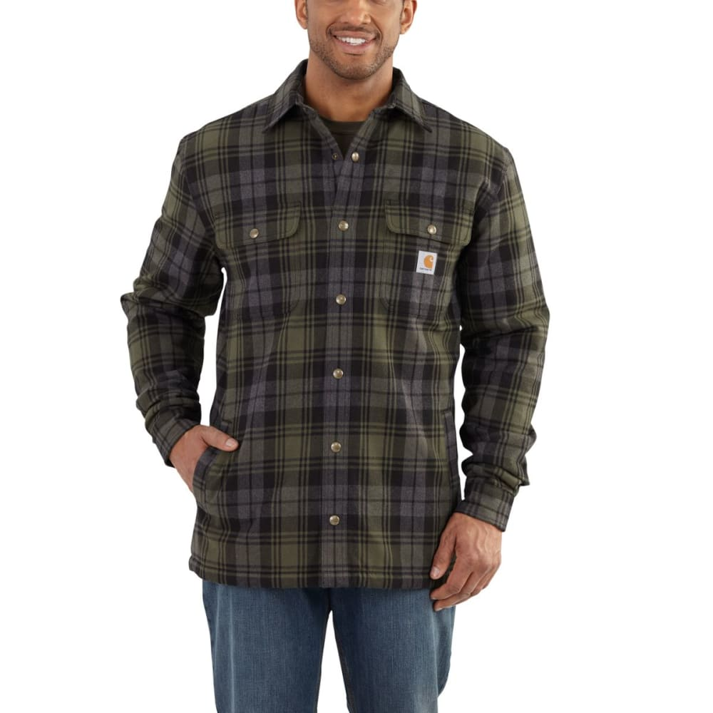 CARHARTT Hubbard Sherpa Lined Shirt Jacket - 316 MOSS