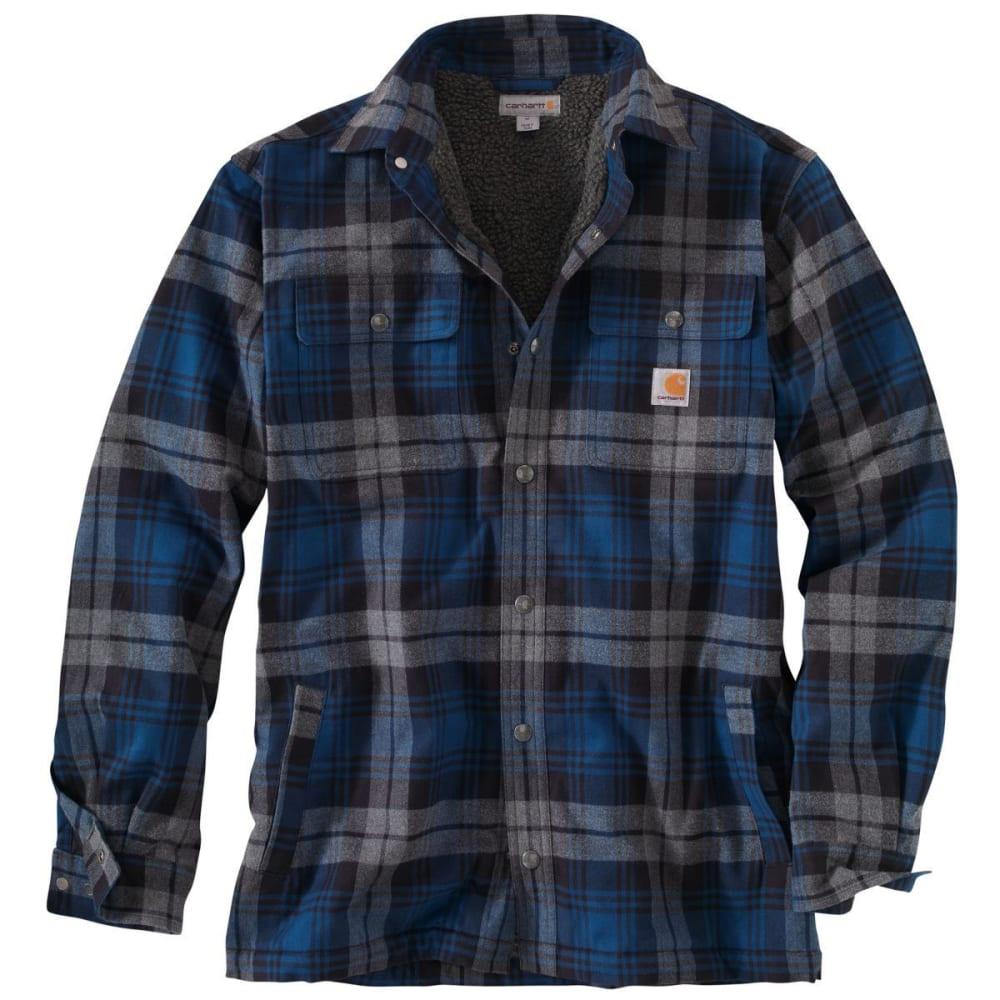 CARHARTT Hubbard Sherpa Lined Shirt Jacket - 988 DK COBALT BLUE