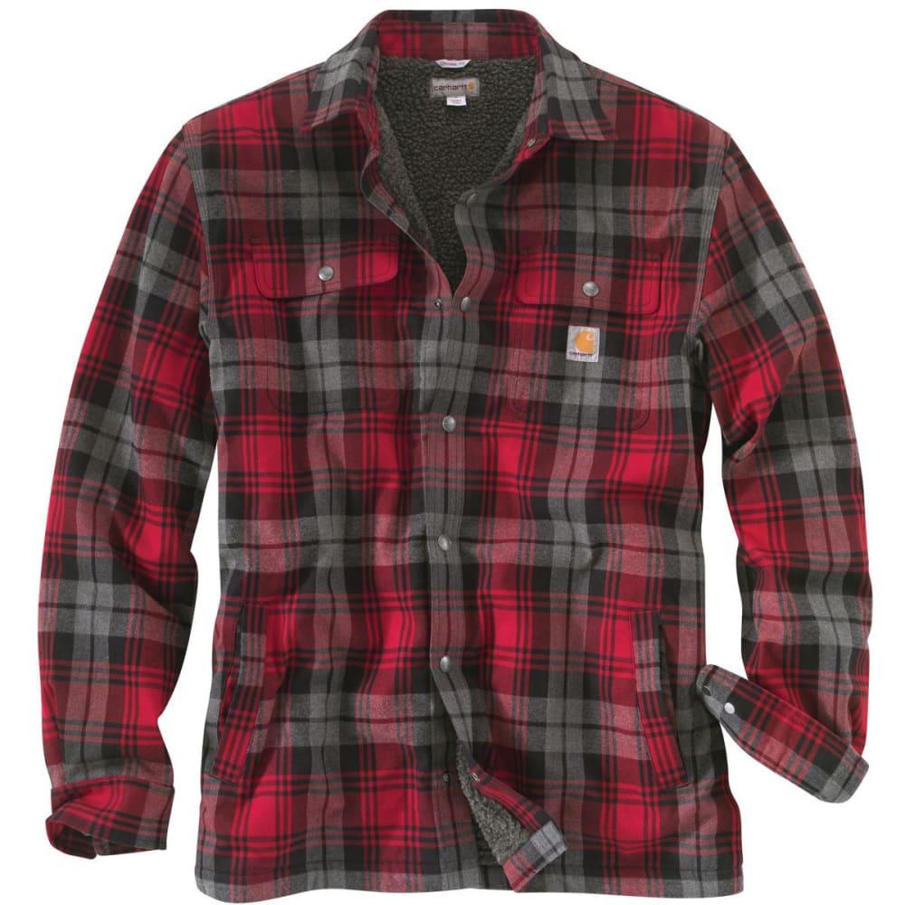 CARHARTT Hubbard Sherpa Lined Shirt Jacket - 608 DK CRIMSON