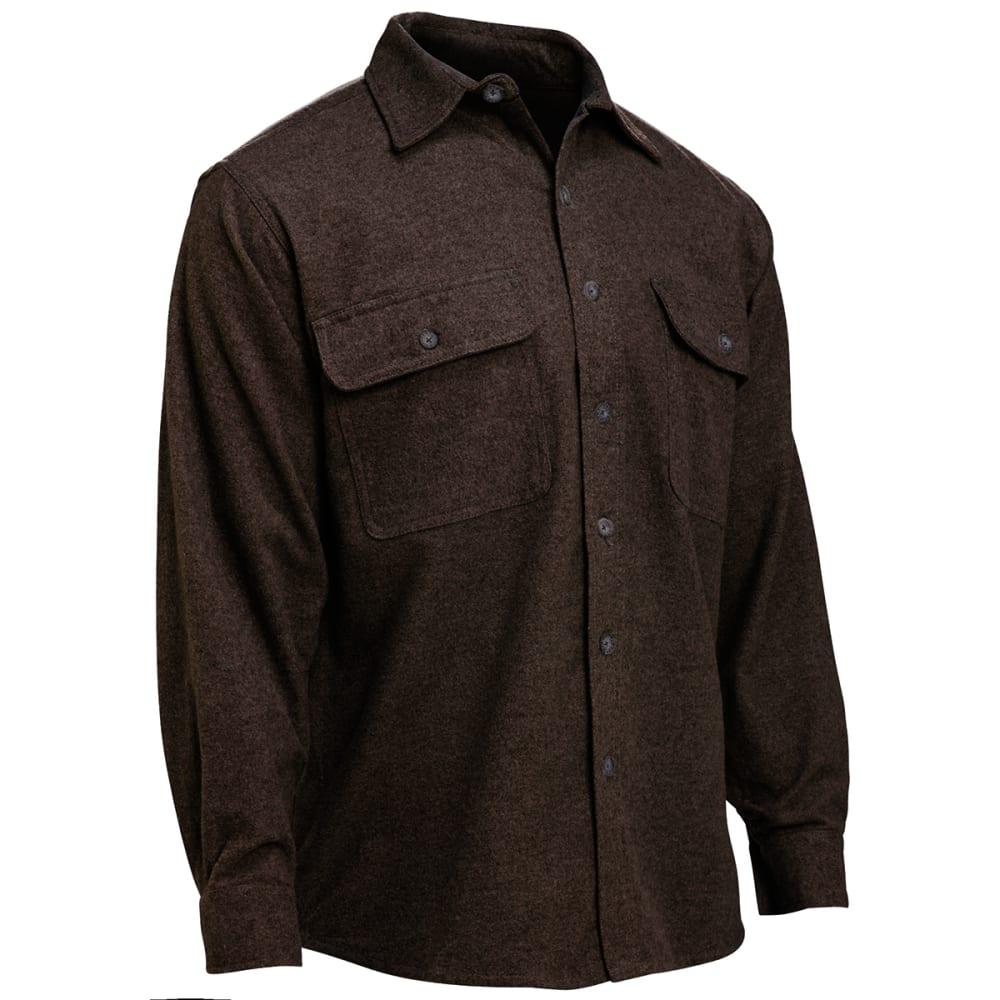 MOOSE CREEK Men's Heavyweight Chamois Shirt, Big & Tall - BROWN HEATHER