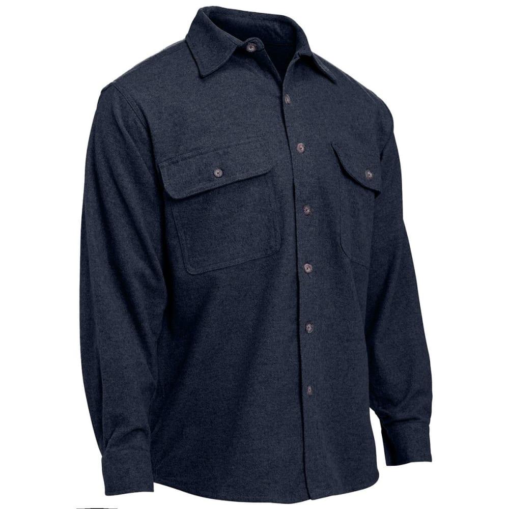 MOOSE CREEK Men's Heavyweight Chamois Shirt, Big & Tall - STEEL BLUE