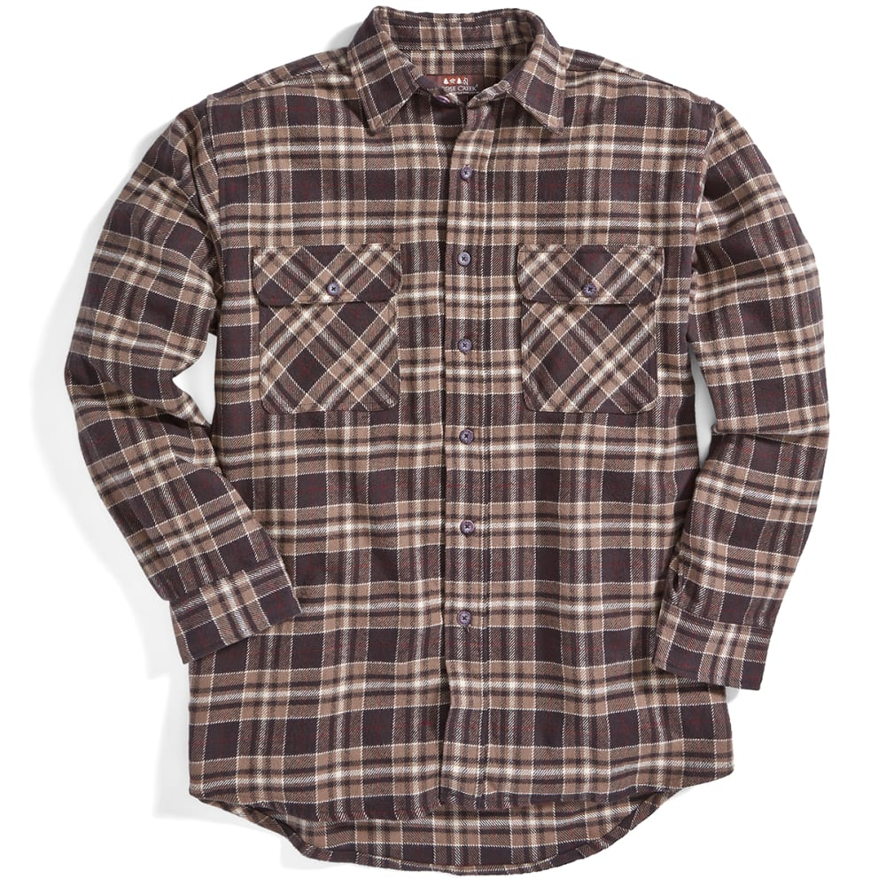 MOOSE CREEK Men's Long Sleeve Brawny Flannel Shirt, Big & Tall - DARK EARTH BO7260 6