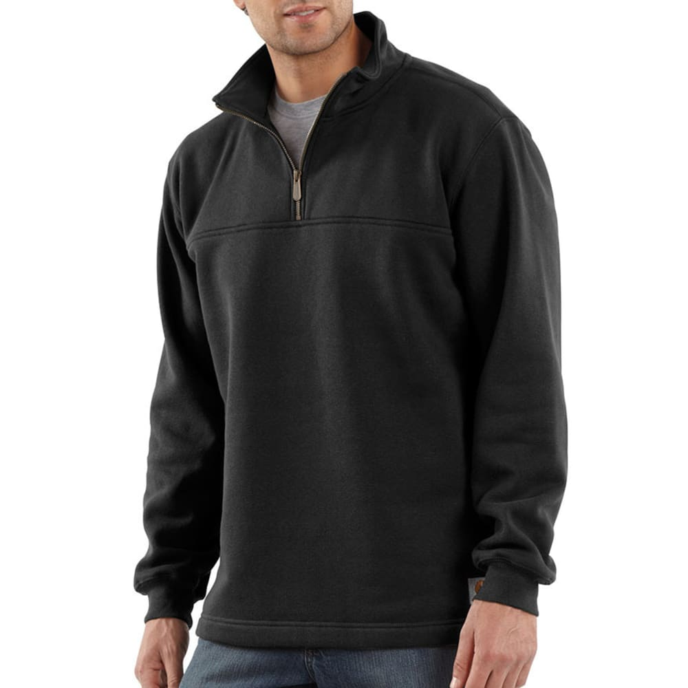 CARHARTT Men's Heavyweight Zip-Mock Sweatshirt - BLACK