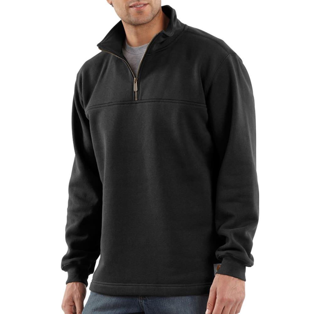 CARHARTT Men's Heavyweight Zip-Mock Sweatshirt - BLACK