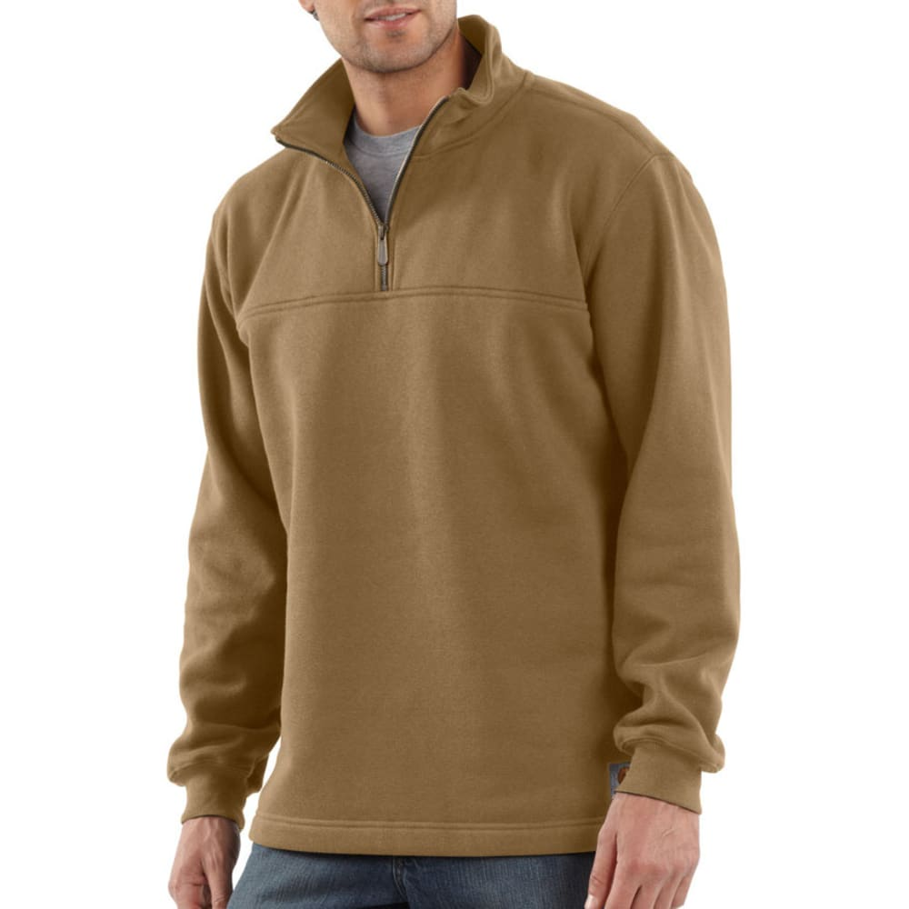 CARHARTT Men's Heavyweight Zip-Mock Sweatshirt - CANYON BROWN