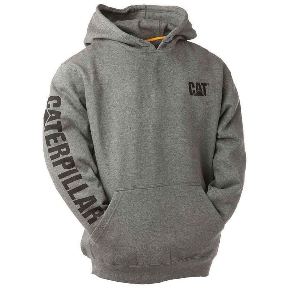 CAT Men's Trademark Banner Hooded Sweatshirt - 004 DK HEATHER