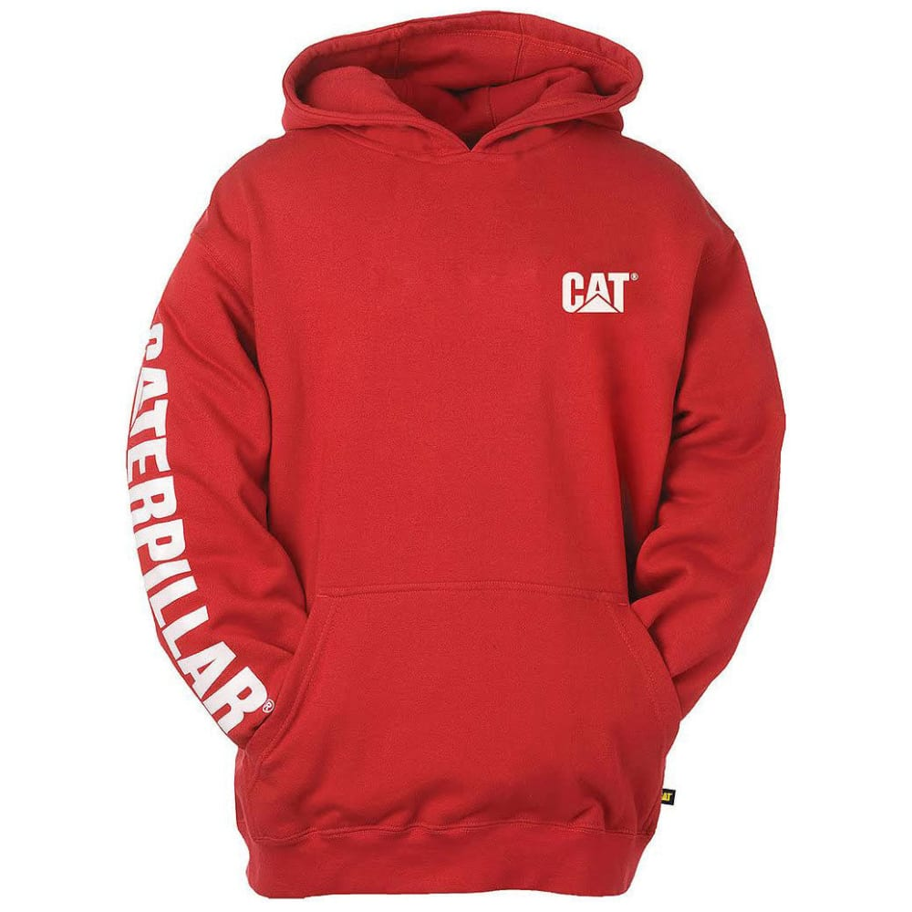 CAT Men's Trademark Banner Hooded Sweatshirt - 155 CHILI PEPPER RED