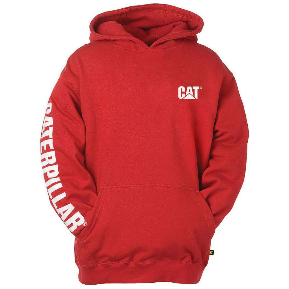 CAT Men's Trademark Banner Hooded Sweatshirt - 155 CHILI PEPPER RED