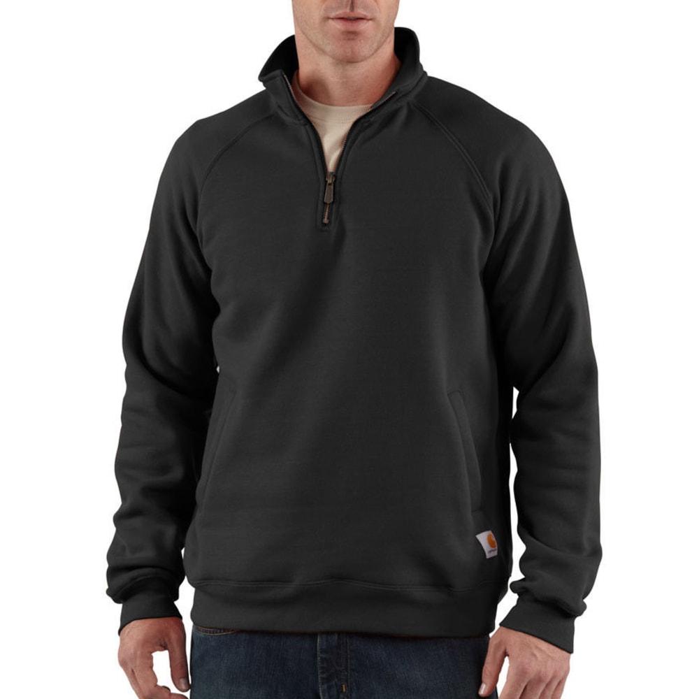 CARHARTT Men's Midweight Quarter-Zip Sweatshirt, Extended Sizes - BLACK