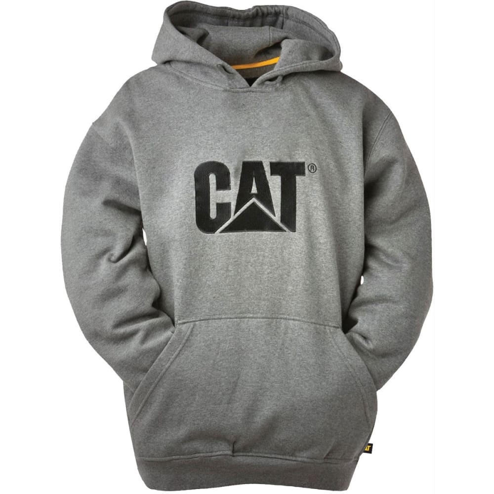 CAT Men's Trademark Hooded Sweatshirt - 004 DK HTHR