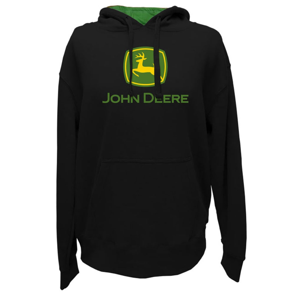 JOHN DEERE Men's Core Screen Print Chest Logo Sweatshirt - BLACK