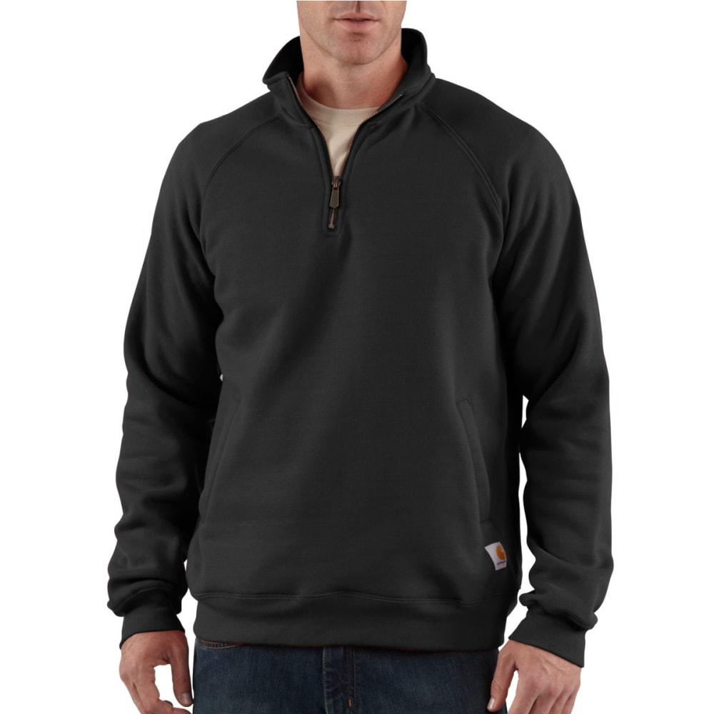 CARHARTT Men's Midweight Mock Neck ¼ Zip - BLACK/STEEL/TROPICAL