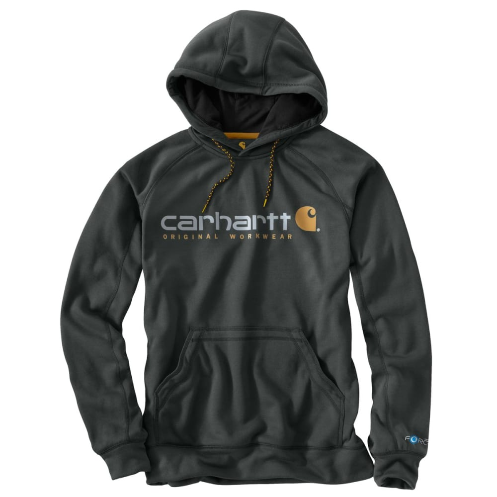 CARHARTT Men's Force Alberton Long Sleeve Hoody - BLACK/STEEL/TROPICAL