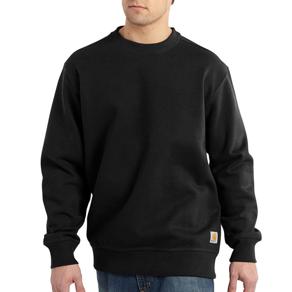 CARHARTT Men's Rain Defender Paxton Heavyweight Crewneck Sweatshirt - BLACK