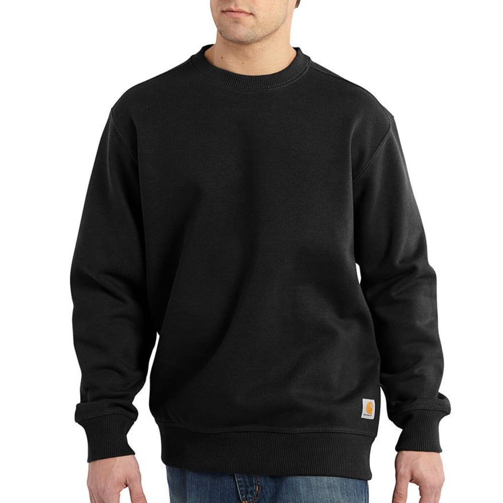 CARHARTT Men's Rain Defender Paxton Heavyweight Crewneck Sweatshirt - BLACK