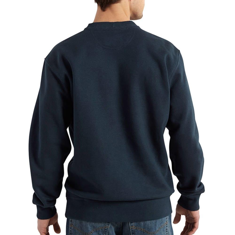 CARHARTT Men's Rain Defender Paxton Heavyweight Crewneck Sweatshirt - NEW NAVY