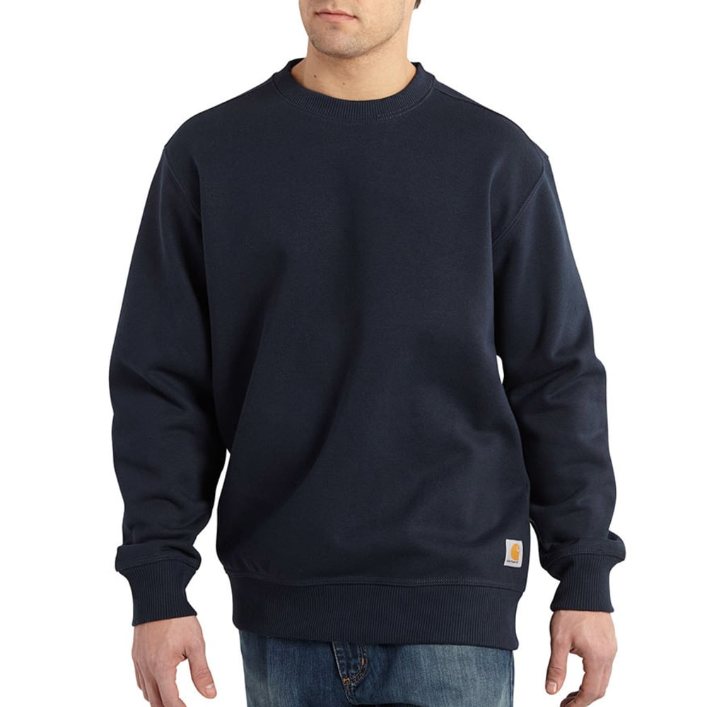 Carhartt Men's Rain Defender Paxton Heavyweight Crewneck Sweatshirt - Blue, M