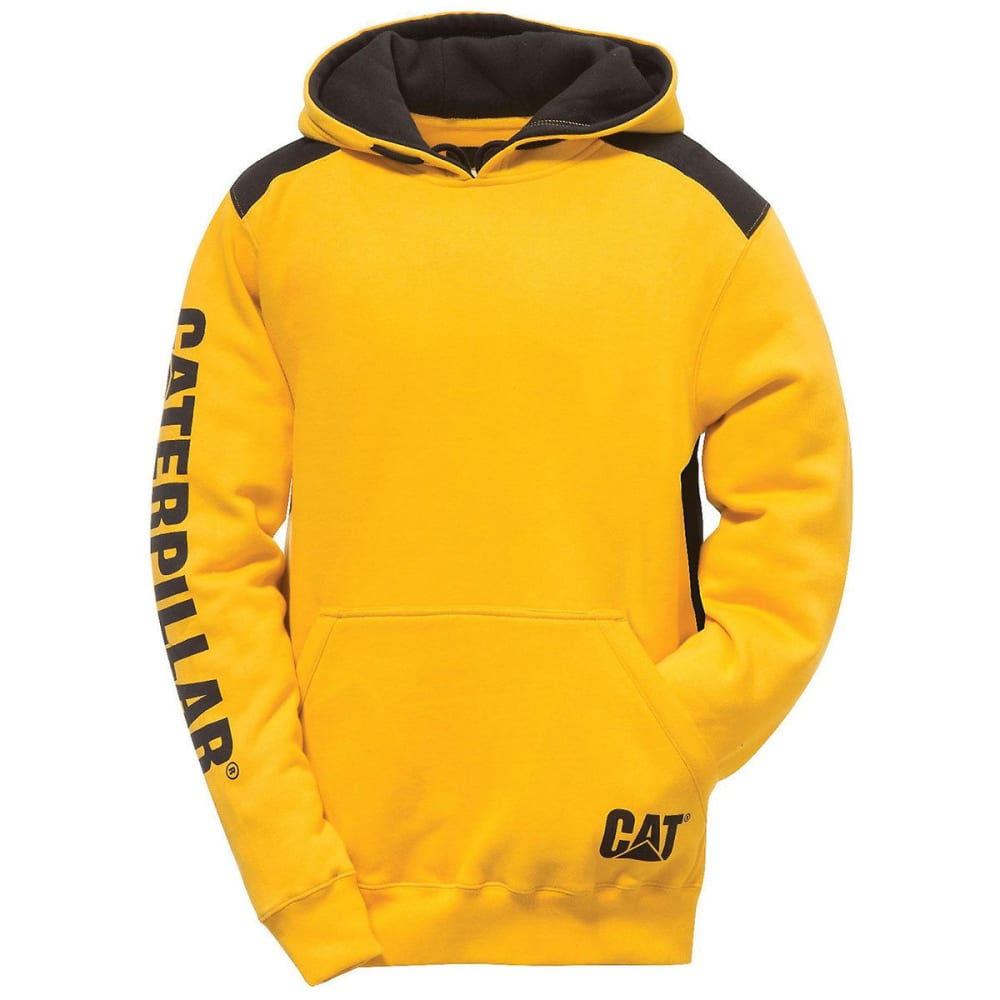 CATERPILLAR Men's Logo Panel Hoodie - Yellow, M