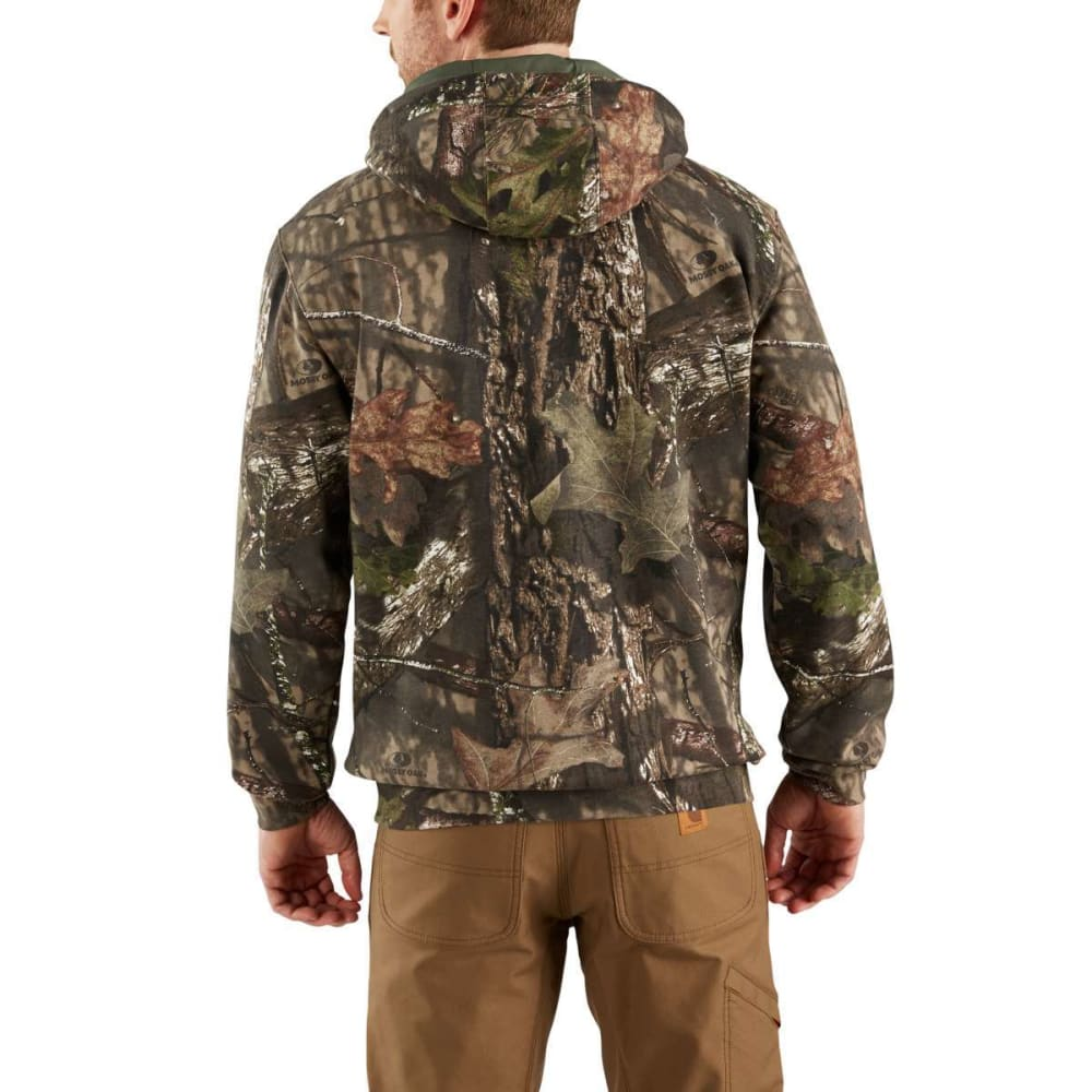 CARHARTT Men's Mid-Weight Camo Hooded Sweatshirt - MOSSY OAK 340