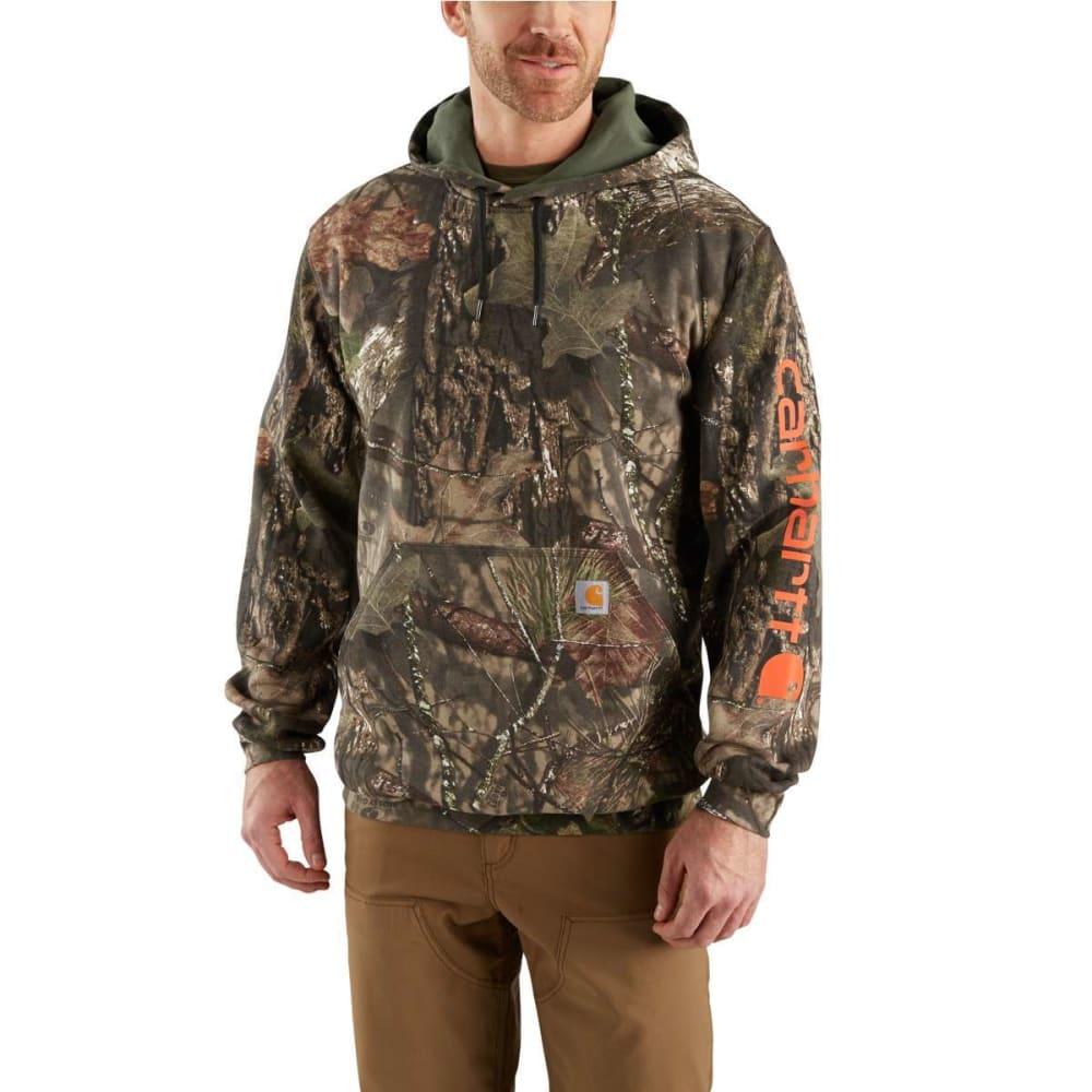 CARHARTT Men's Mid-Weight Camo Hooded Sweatshirt - MOSSY OAK 340
