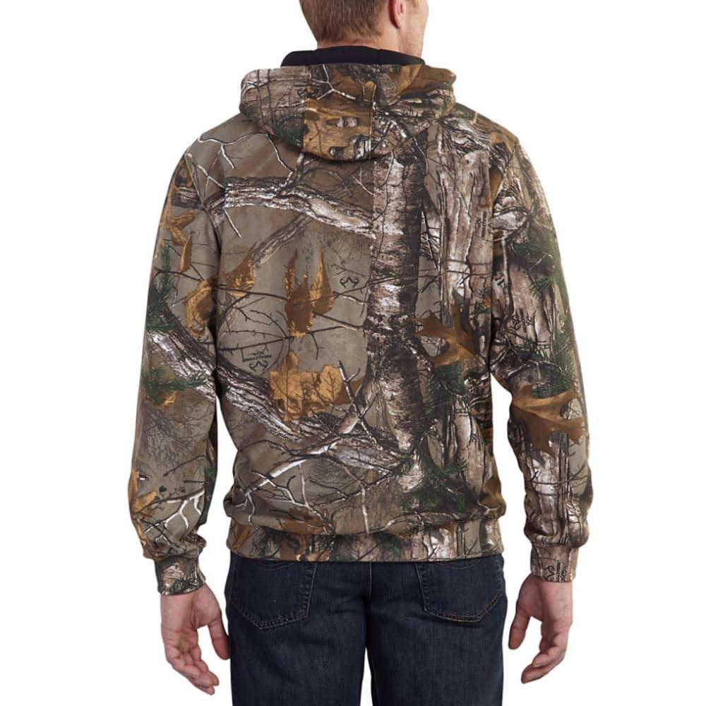 CARHARTT Men's Mid-Weight Camo Hooded Sweatshirt - 977 REAL TREE CAMO