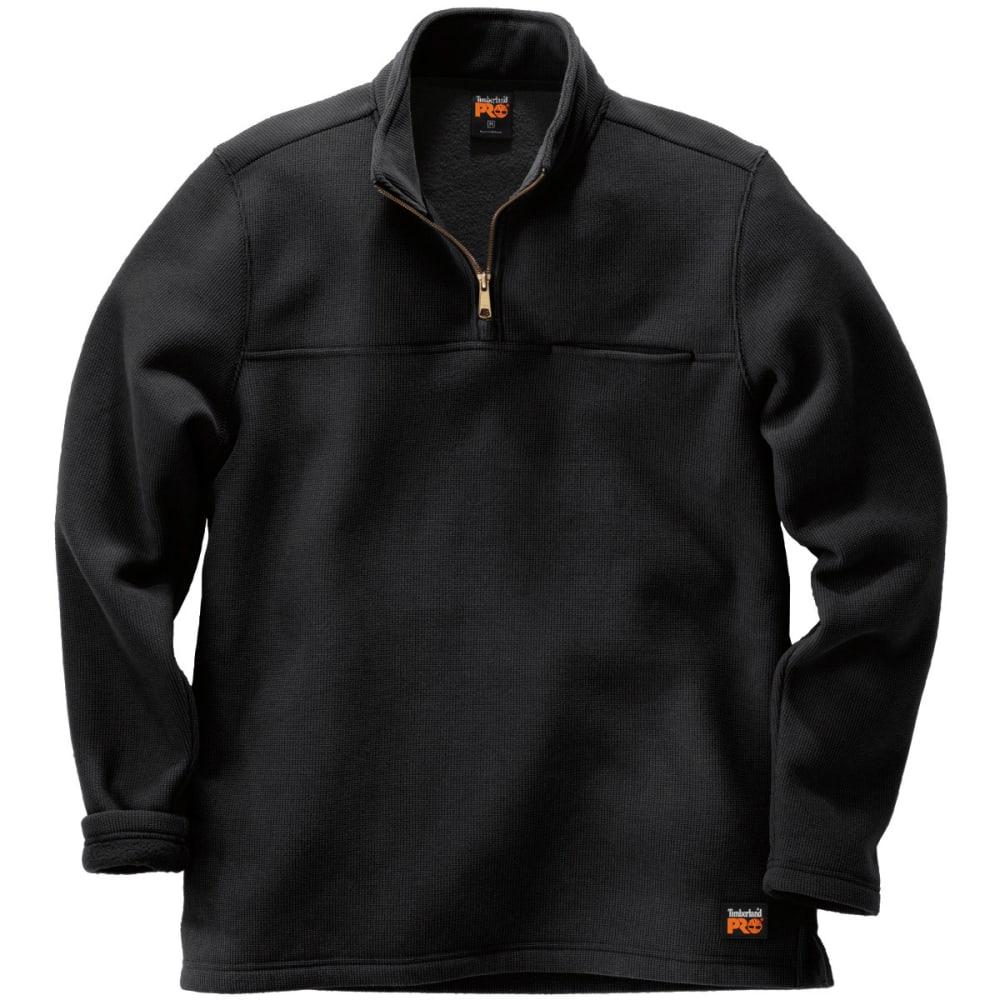 TIMBERLAND PRO Men's Quarter Zip Textured Men's Pullover - BLACK 015