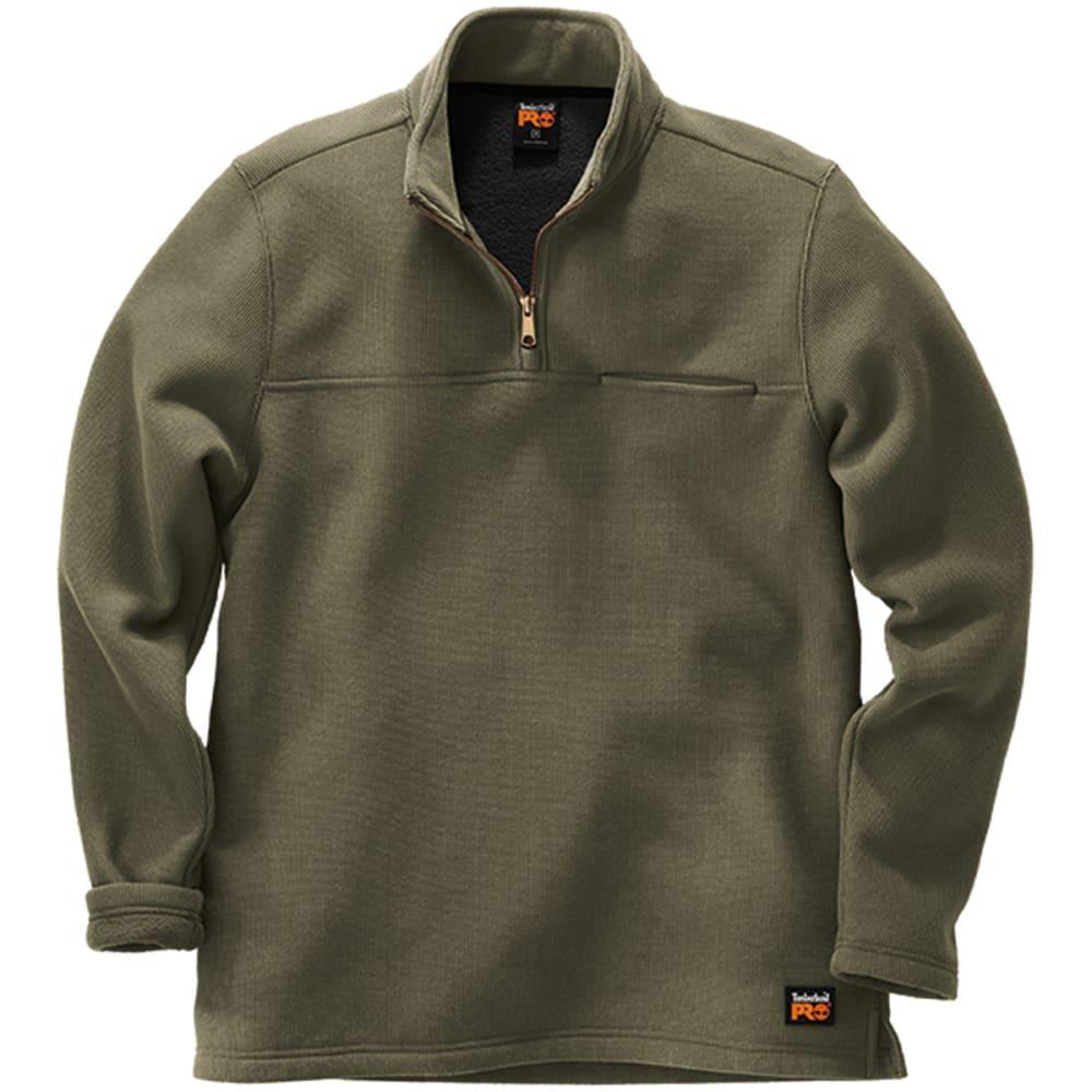 TIMBERLAND PRO Men's Quarter Zip Textured Men's Pullover - GRAPE LEAF A58